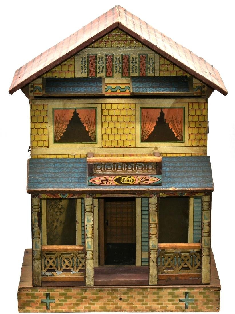 Antique Bliss Lithographed Wood Doll House