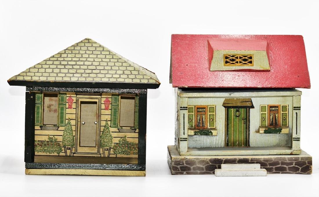 Two Vintage Dollhouse Cottages