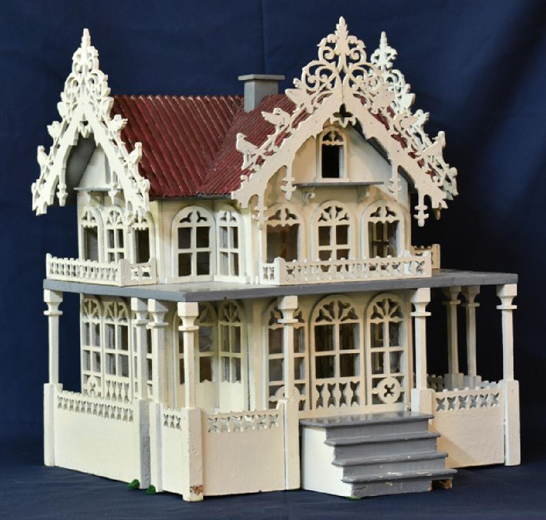 Antique Victorian Fretwork Dollhouse