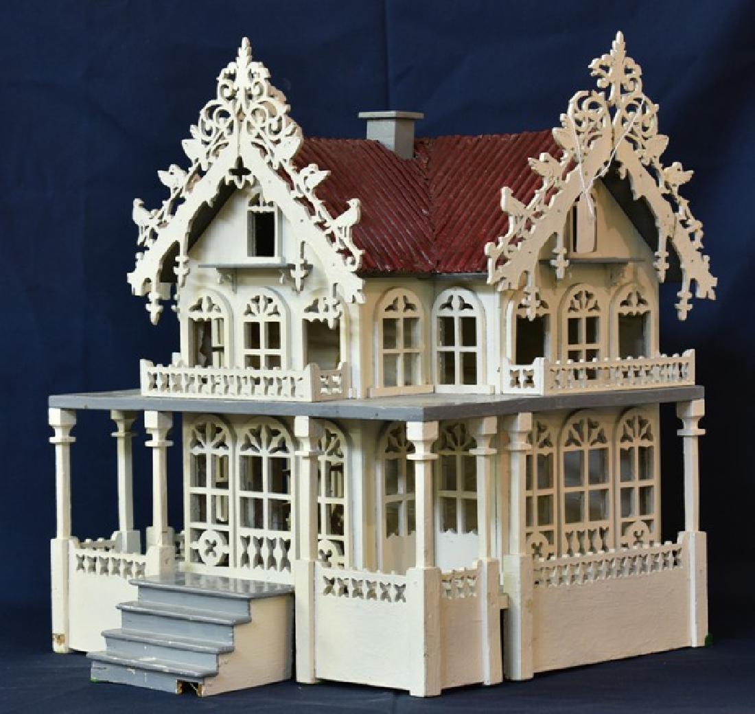 Antique Victorian Fretwork Dollhouse - 2