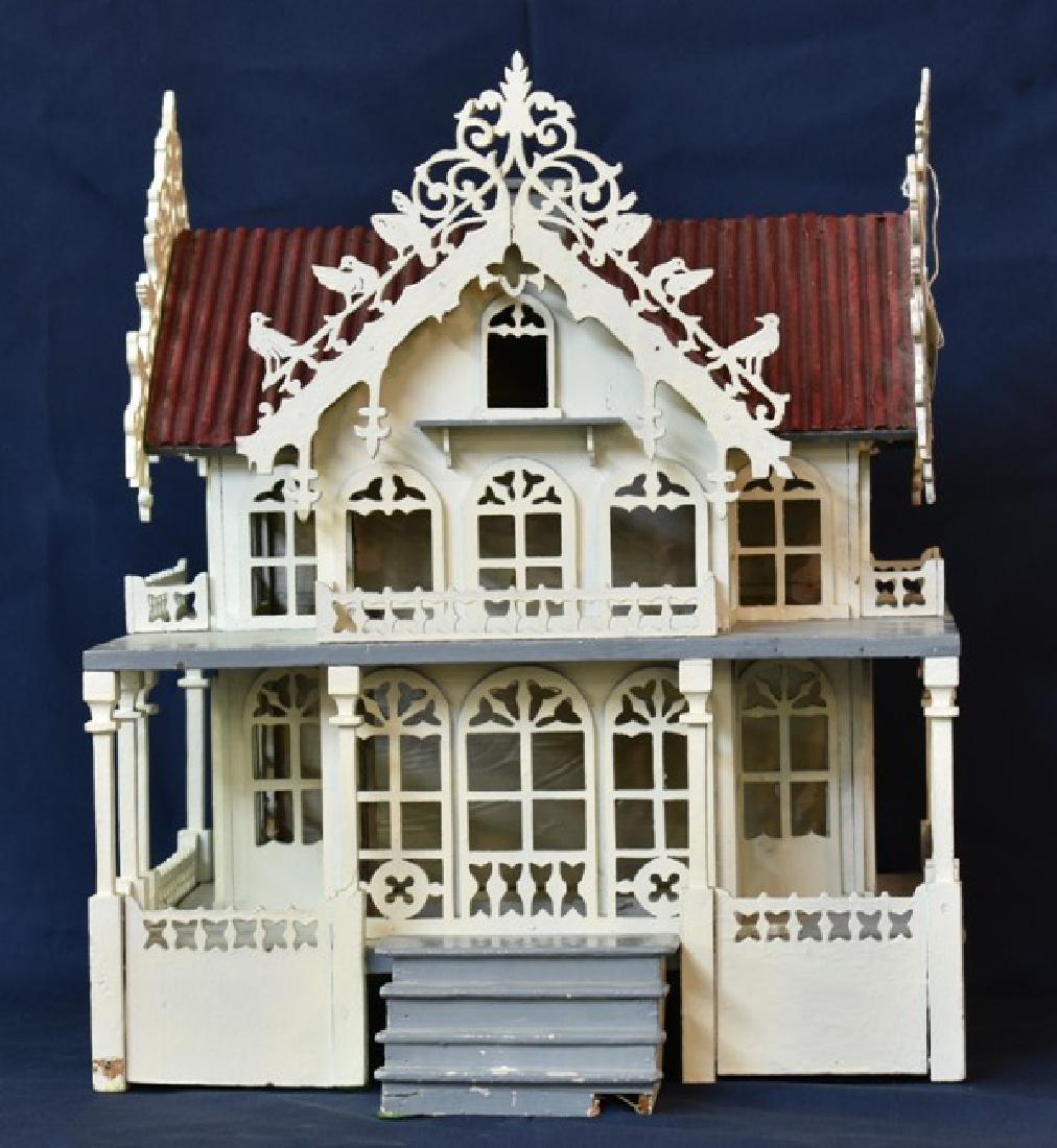 Antique Victorian Fretwork Dollhouse - 3
