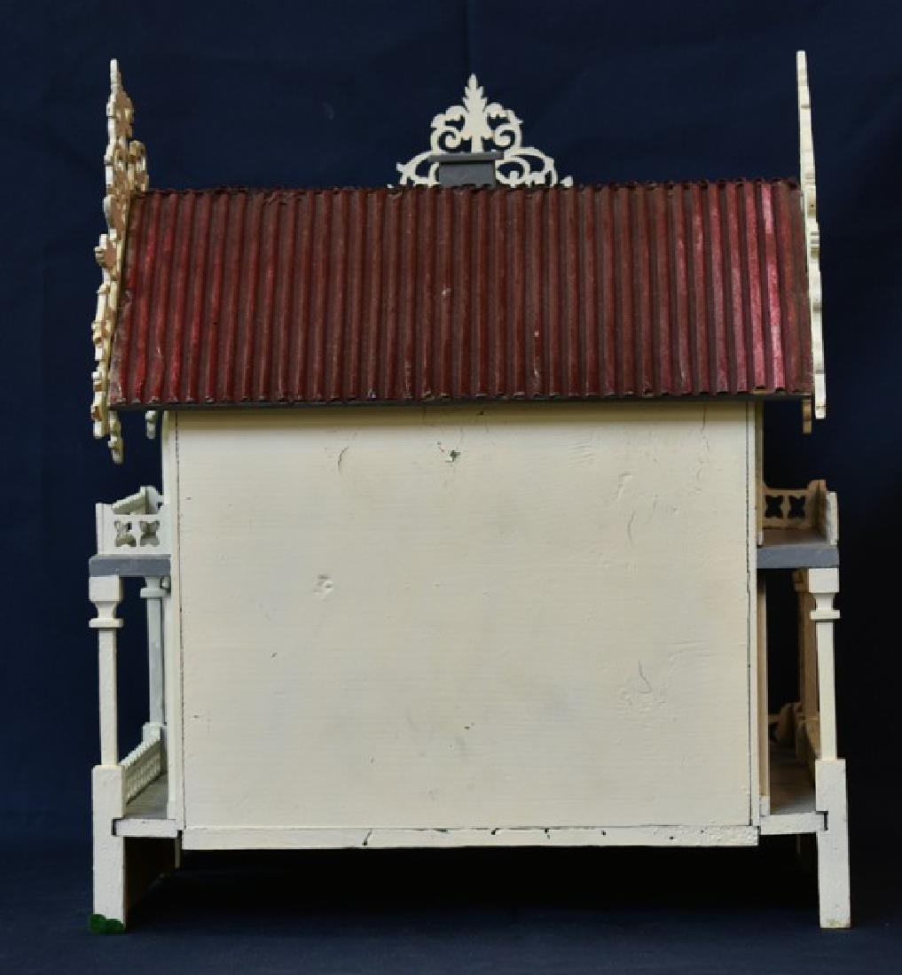 Antique Victorian Fretwork Dollhouse - 4