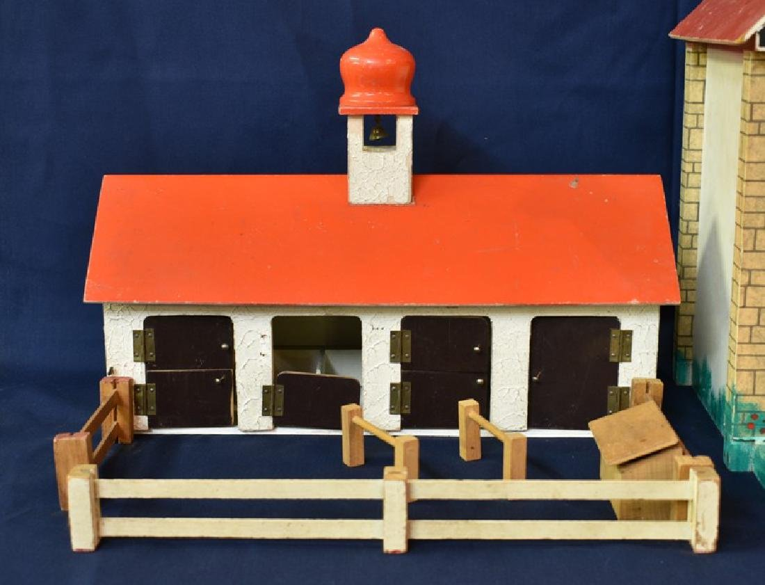 English Mid-Century Dollhouse & Stable - 2