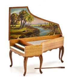 Ralph Partelow Dollhouse Harpsichord Miniature