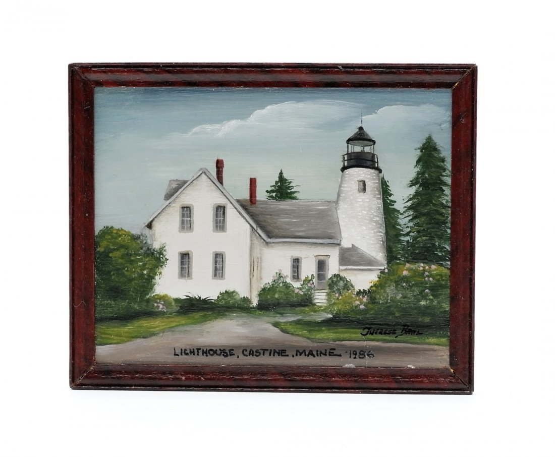 Therese Bahl Dollhouse Lighthouse Painting Miniature
