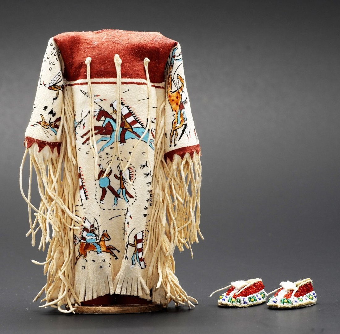 Rainbow Hand Picto Plains Indian Dress & Moccasins