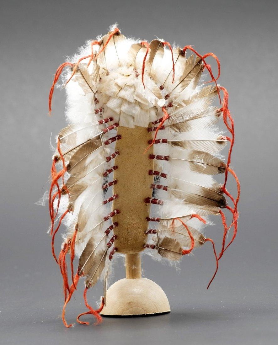 Rainbow Hand Dollhouse Indian War Bonnet Miniature - 3