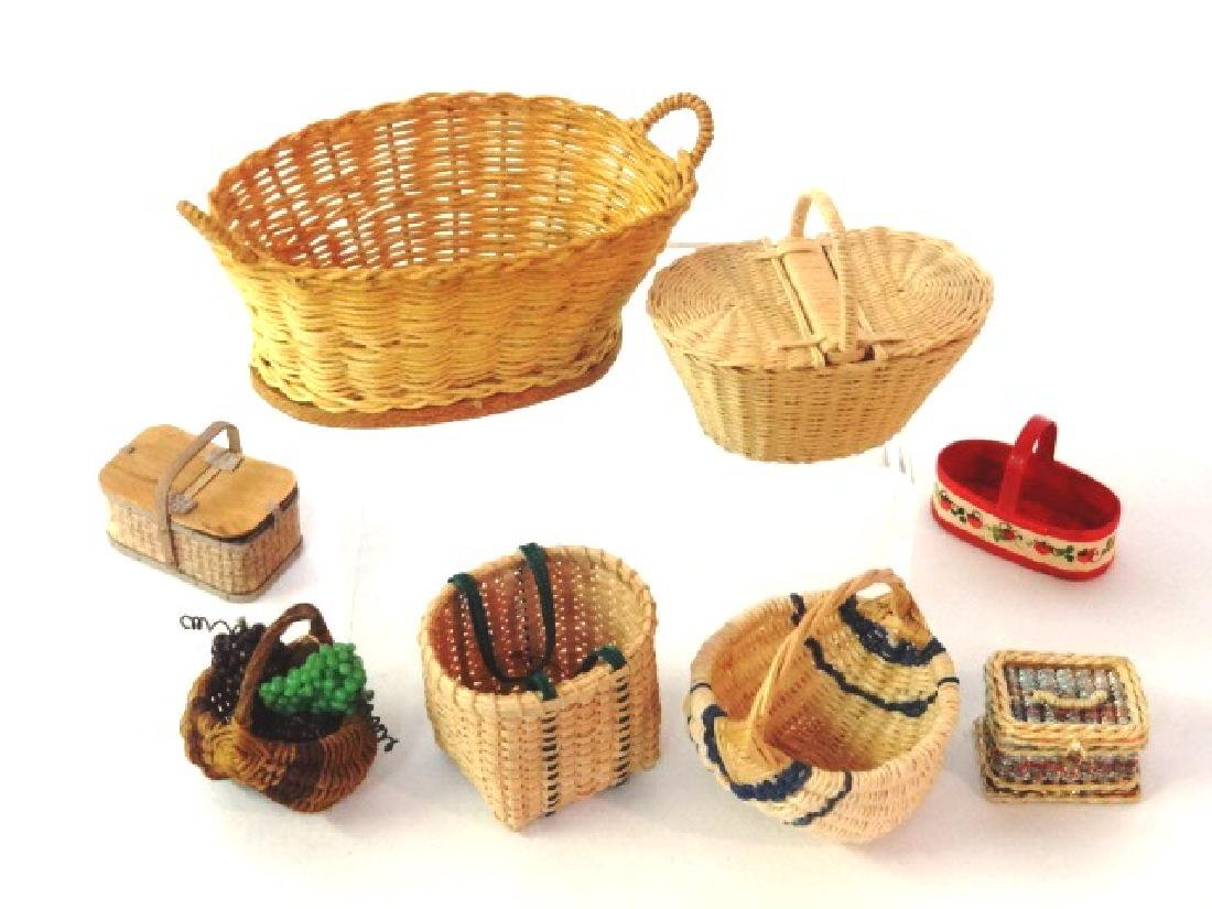 Dollhouse Artisan Baskets Miniatures