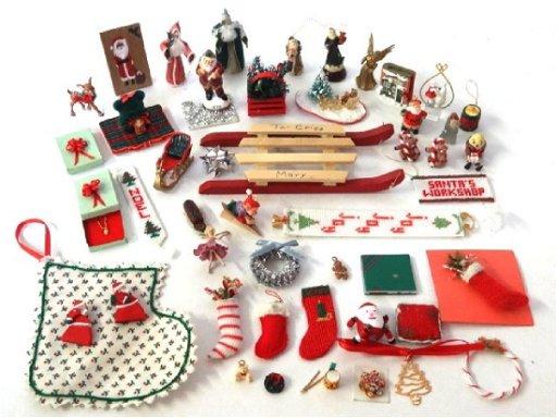 Christmas Dollhouse Decorations.Dollhouse Christmas Decorations Miniatures