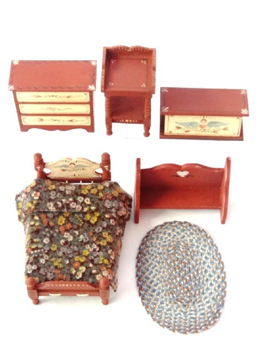 """Tish 1/2"""" Scale Dollhouse Country Furniture Miniatures"""