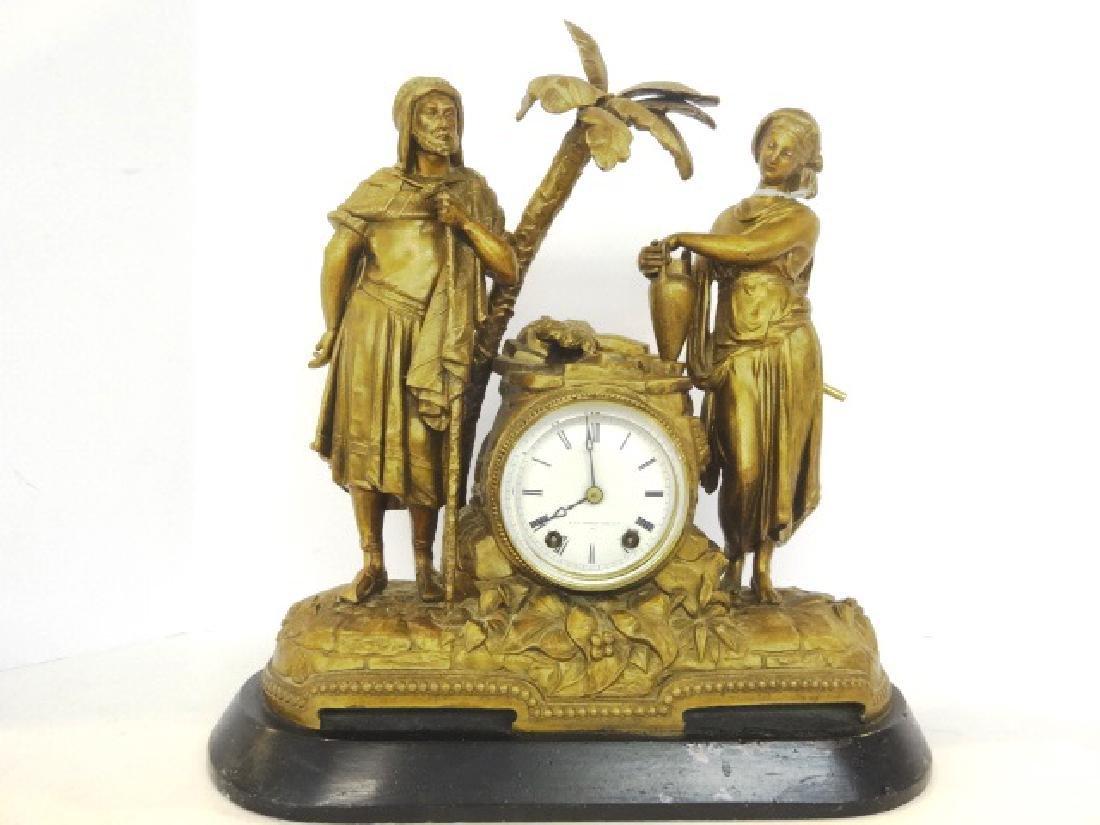 "Seth Thomas Figural Clock ""Rebecca At The Well"""