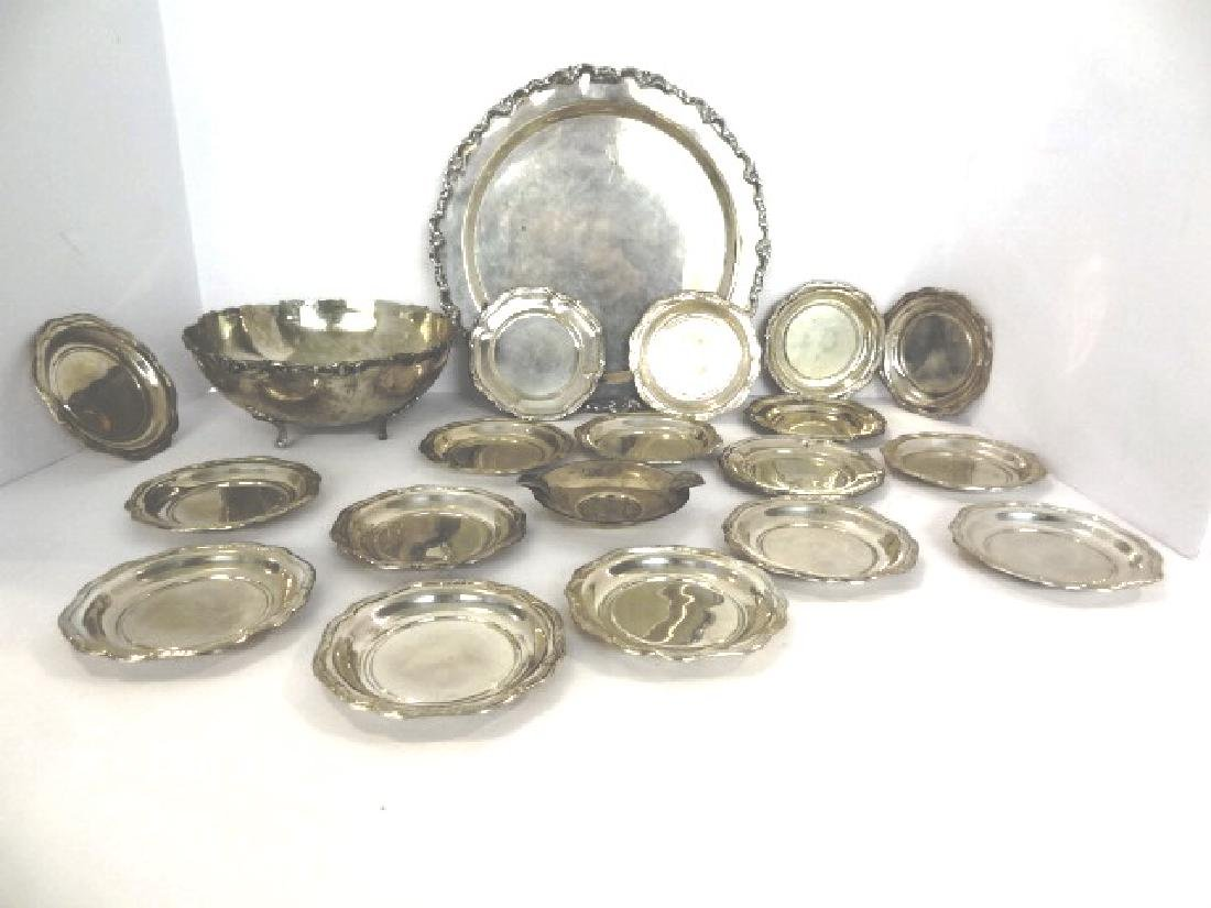 Columbian .900 Silver Bowl & Plate