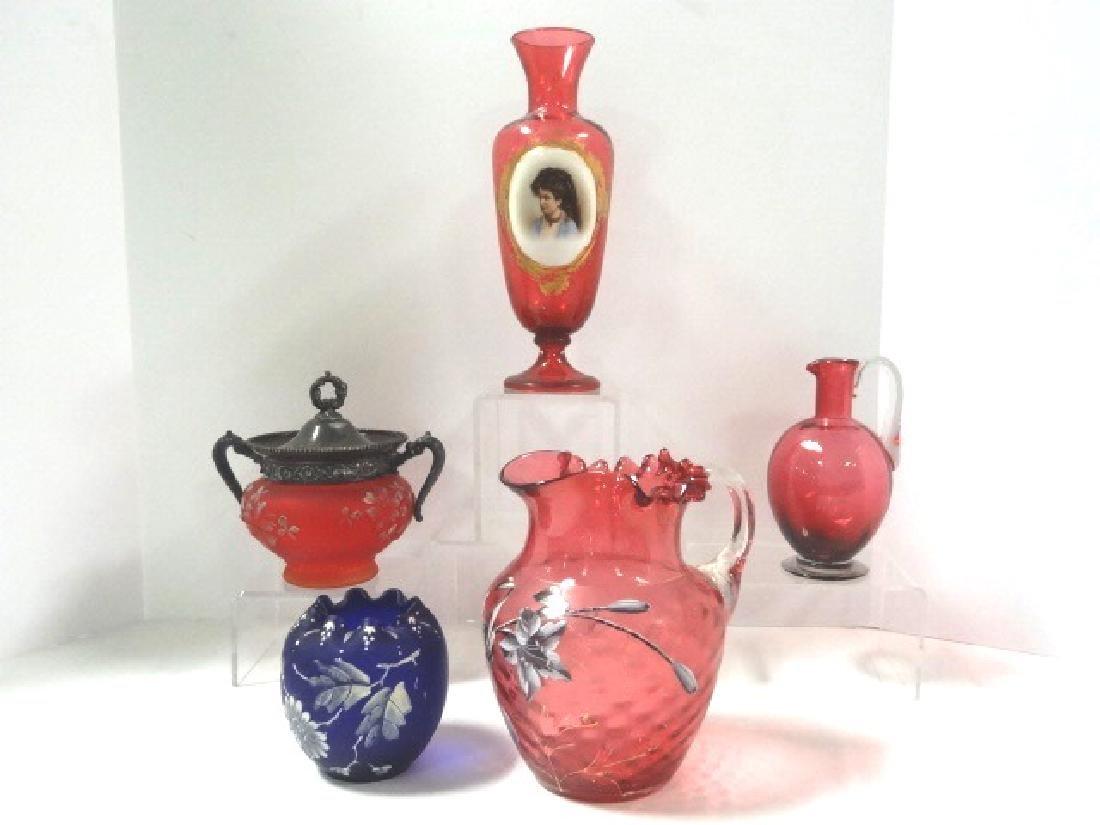 Cranberry & Cobalt Glass