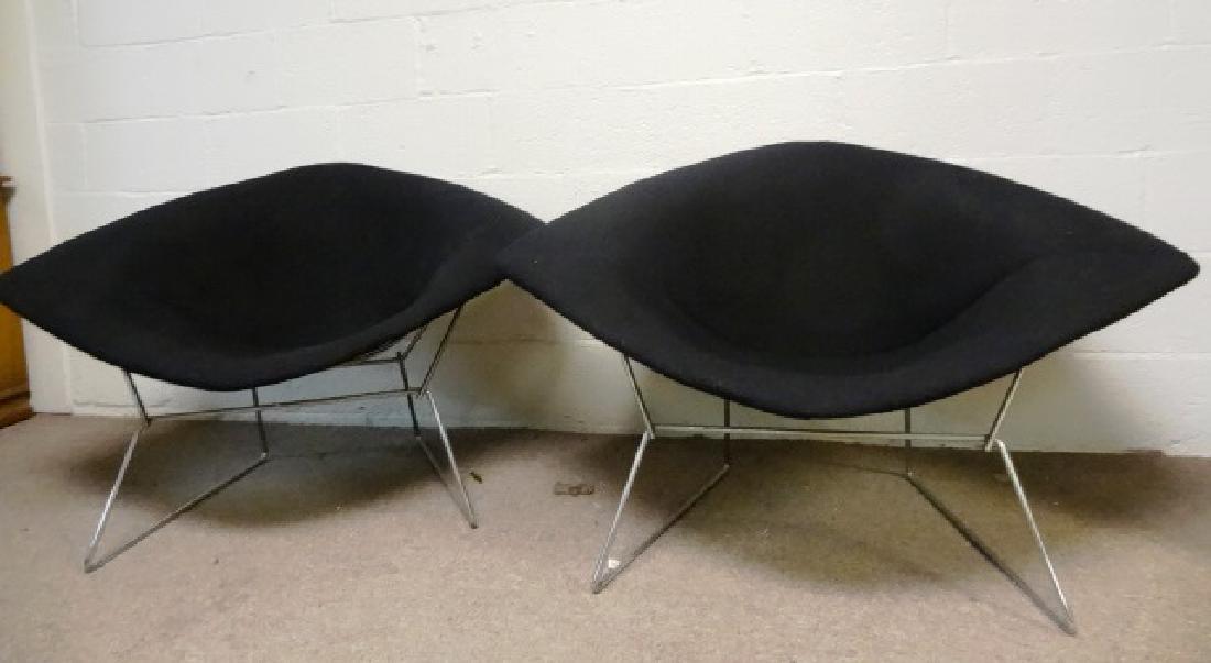 Pair pf Vintage Bertoia Diamond Knoll Chairs