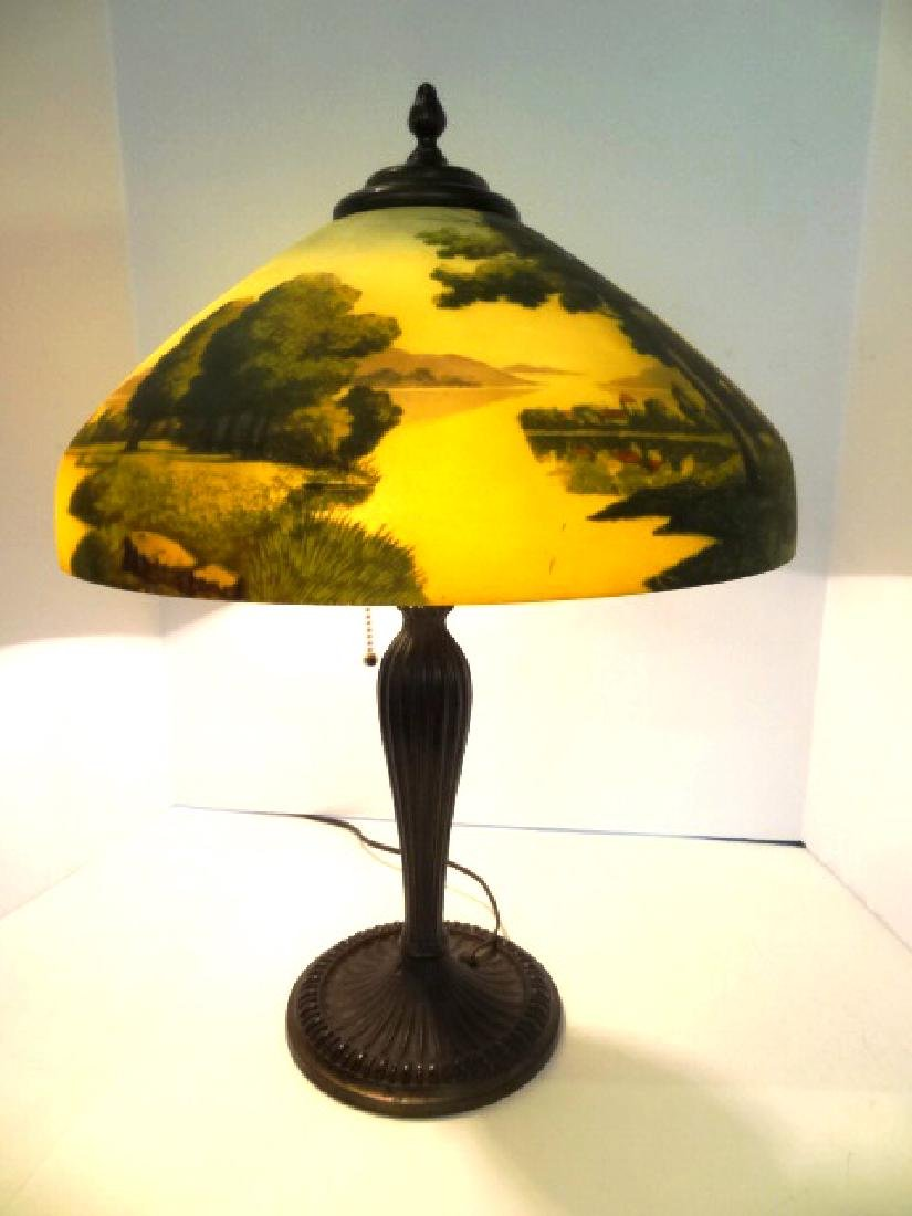 Scenic Reverse Painted Lamp