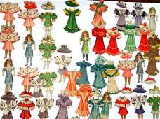 5 Tuck Paper Doll Sets With Extras