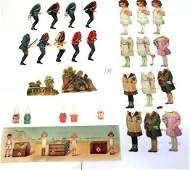 Early Tuck Paper Dolls & Accessories