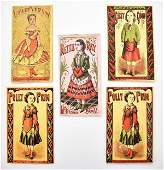 Five Early McLoughlin Paper Doll Sets