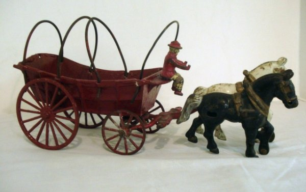 2: Kenton Cast Iron Covered Wagon