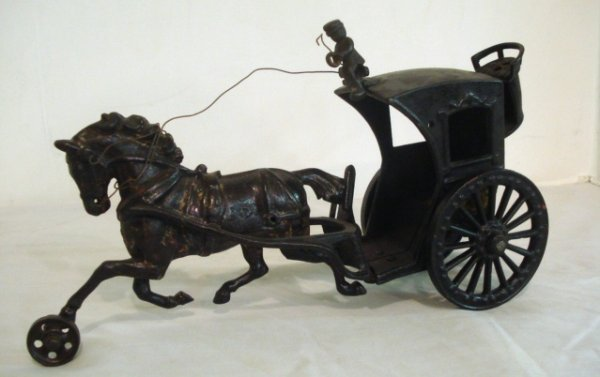 3: Cast Iron Horse Drawn Handsom Cab