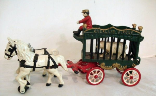 9: Kenton Cast Iron Overland Circus Wagon