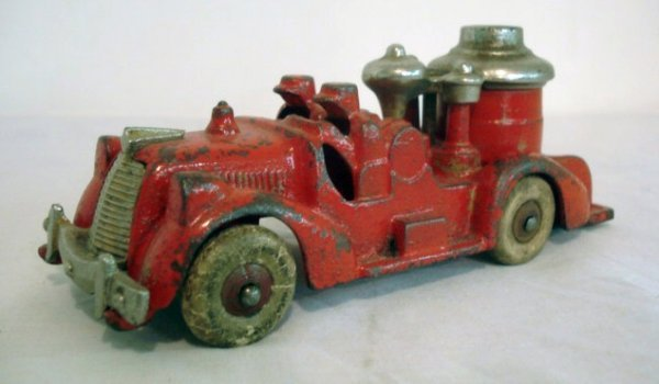 14: Arcade Cast Iron Red Fire Truck