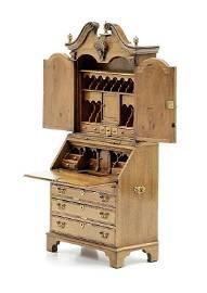 J. Davenport Secretary Desk Dollhouse Miniature