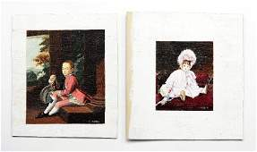 Two Joan Vaber Oil Paintings Dollhouse Miniatures