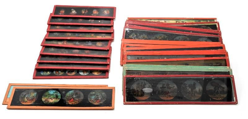 Antique Magic Lantern Comic Glass Slides