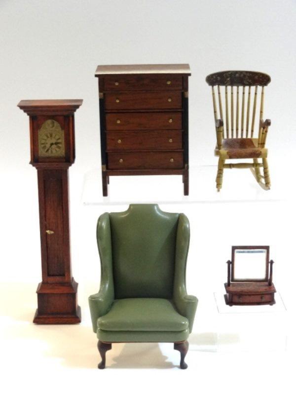 Block House Dresser & Other Dollhouse Miniatures