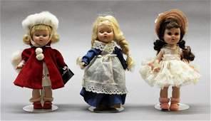 Three Vogue Ginny Dolls