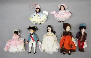 Seven Madame Alexander Dolls