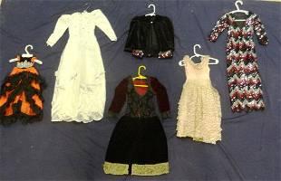 Six Doll Dresses