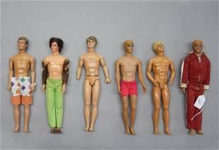 Group of Ken Dolls