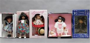 Four Ginny Dolls in Boxes