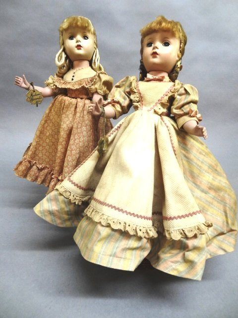 Two Hard Plastic Madame Alexander Little Women Dolls