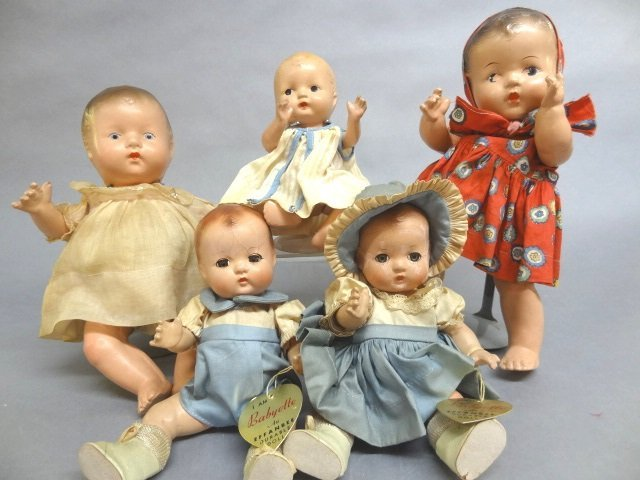 Five Composition Dolls