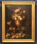 Antique Large Floral Painting