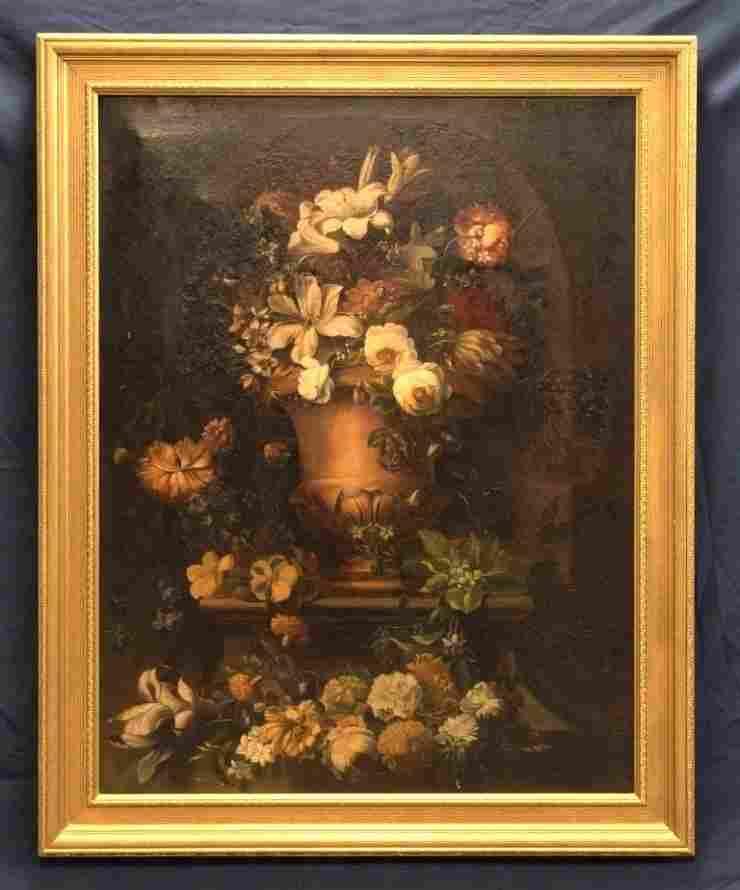 Antique Large Floral Painting