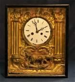 French Shadow Box Clock