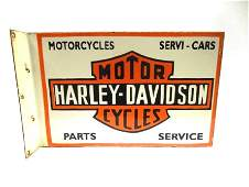 Vintage Harley Davidson Porcelain Sign