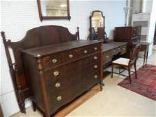 Antique Seven Piece Mahogany Bedroom Set