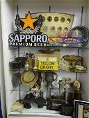 Large Showcase full of Country Items