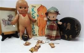 Kewpie Composition Dolls  Tin  Paper items
