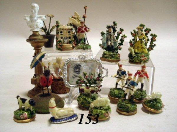 153: Artist Staffordshire Style Figures/ Vienna Bronze