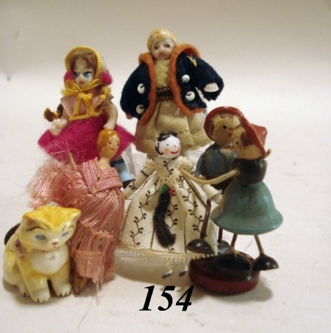 154: Miniature Dolls & Figure