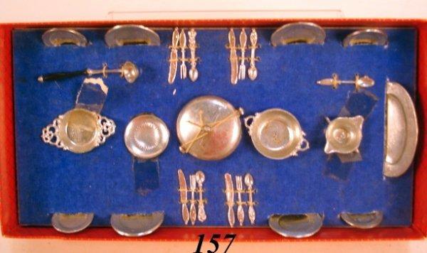 157: German Pewter Dish Set OB