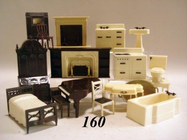 160: Plastic Dollhouse Furniture, Renwal, Ideal