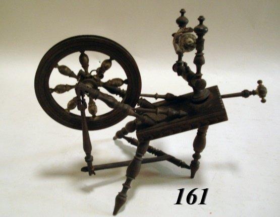 161: Vintage Handcarved Spinning Wheel  in Miniature