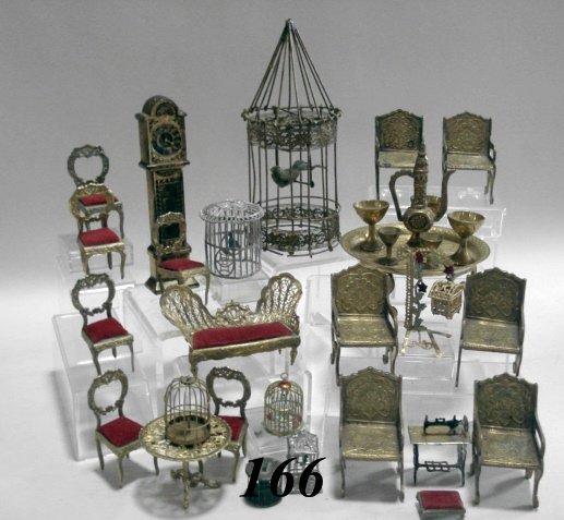 166: Ormolu & Brass, Pewter Furniture